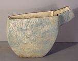 Stoneware pouring vessel<br/> with pale blue glazes by Paul Philp